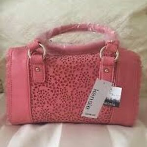 NWT Kenzie Lacey Laser Satchel Pink Grapefruit
